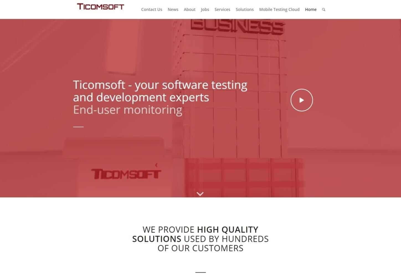 בניית אתרים לחברת: ticomsoft.
