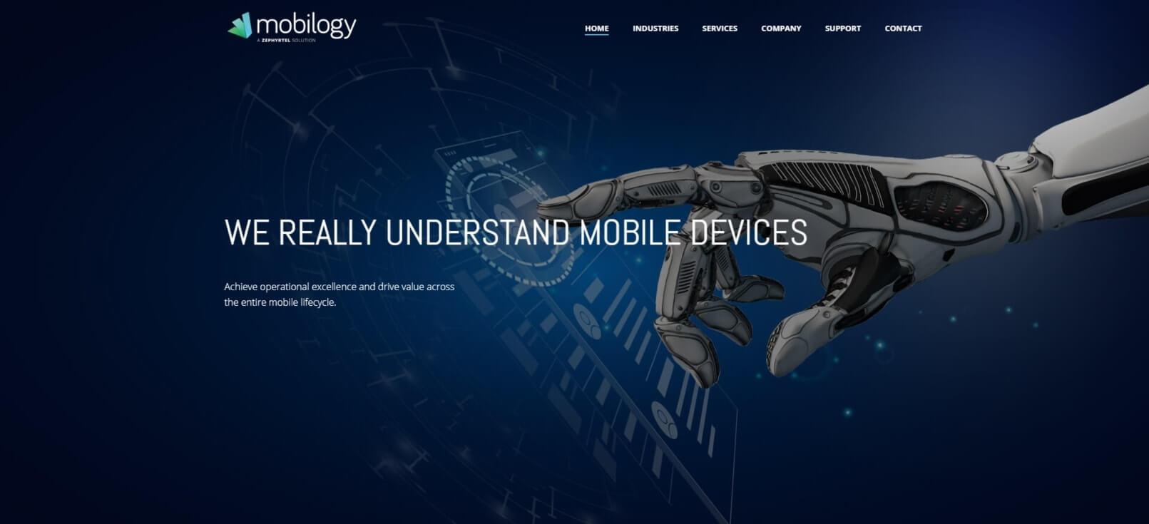 בניית אתרים לחברת: mobilogy.