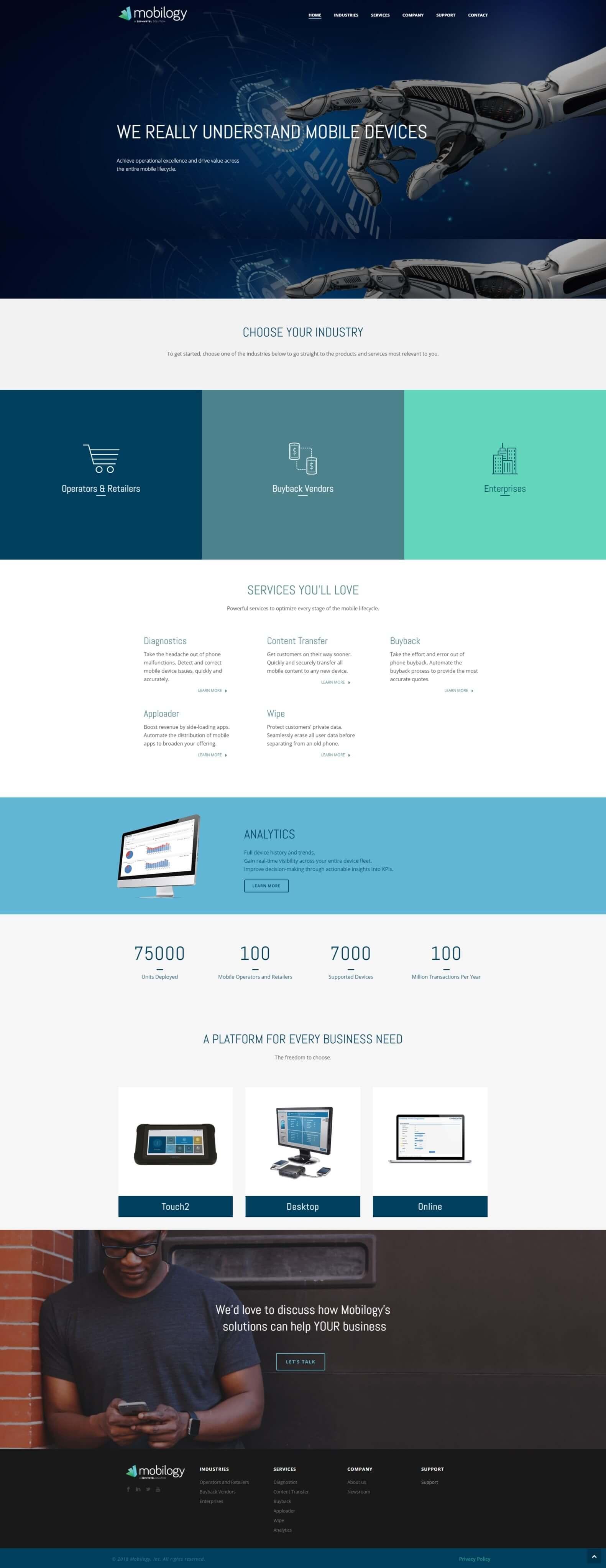 בניית אתר לחברת: mobilogy.